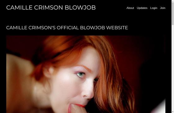 Camille Crimsons Blowjob